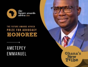 Emmanuel Recognised by the Future Awards Africa 2018